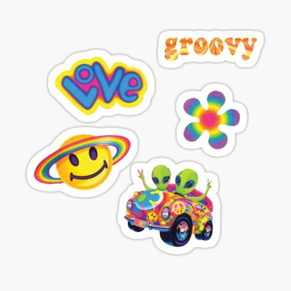 lisa frank inspired sticker pack (y2k) Sticker