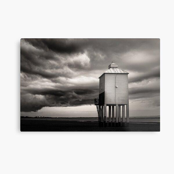 Burnham-on-Sea Wooden Low Lighthouse | Lighthouse on Legs Metal Print