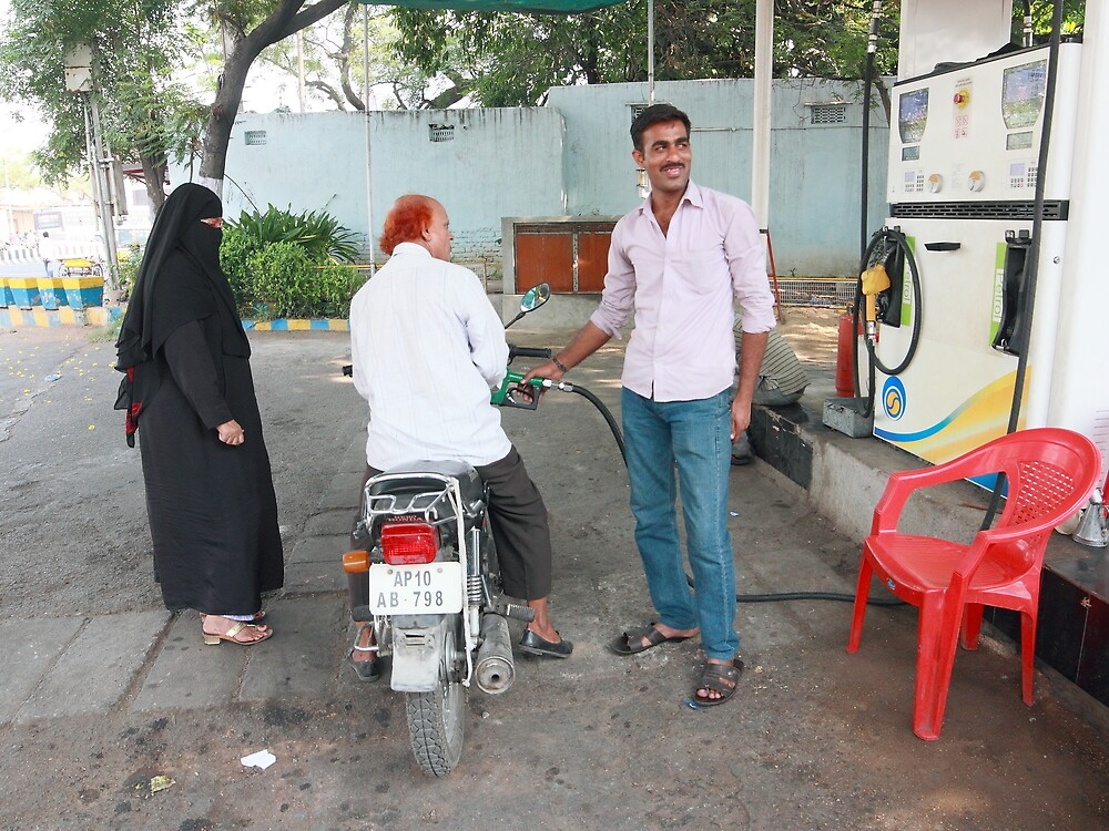 Filling Up in Hyderabad by Andrew  Makowiecki