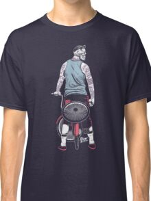 Low Ride Skull WithTattoo Classic T-Shirt