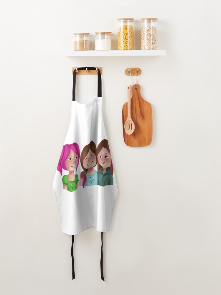 Alternate view of Me, Myself, and I Apron