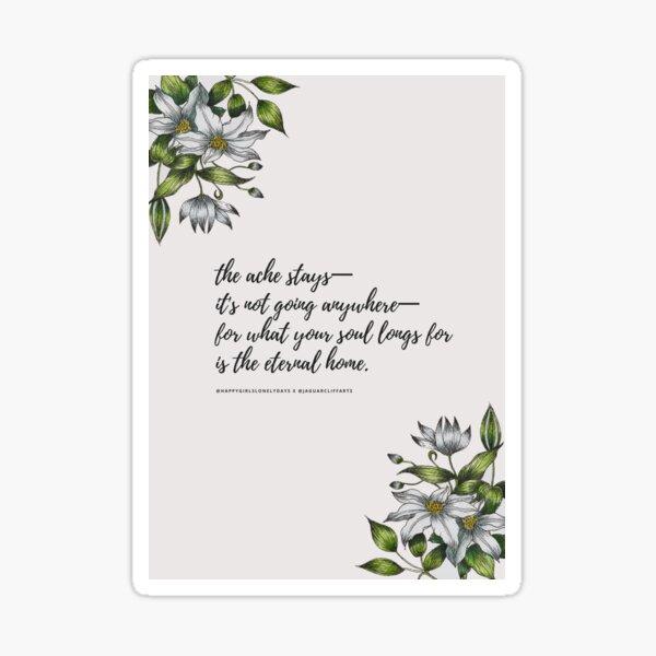 Longing for Home Poem Sticker