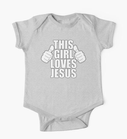 THIS GIRL LOVES JESUS SHIRT Kids Clothes