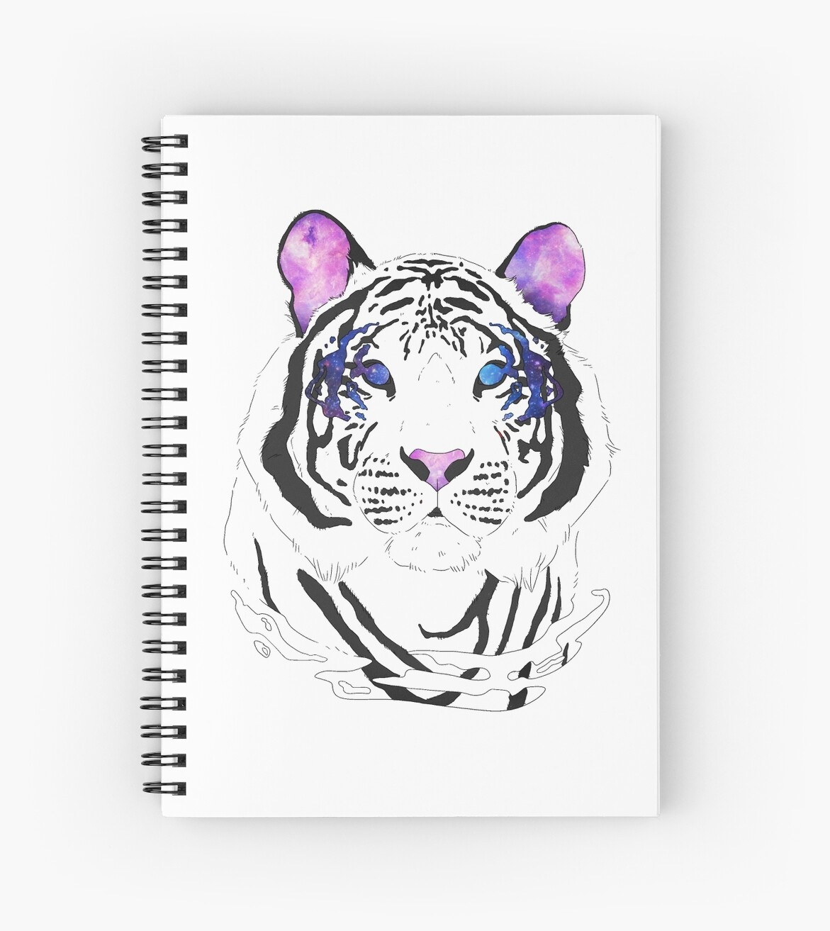 Hipster galaxy white tiger by GraphicResign