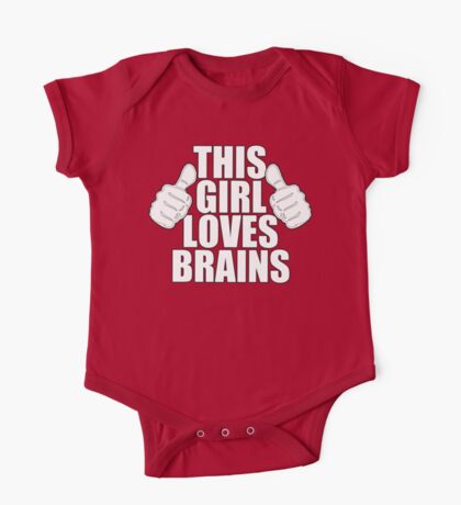 THIS GIRL LOVES BRAINS SHIRT Kids Clothes