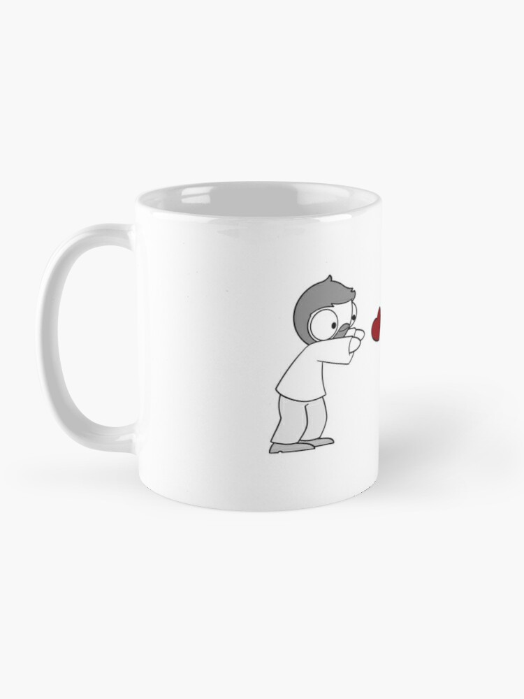 Alternate view of Hearts Throw Mug