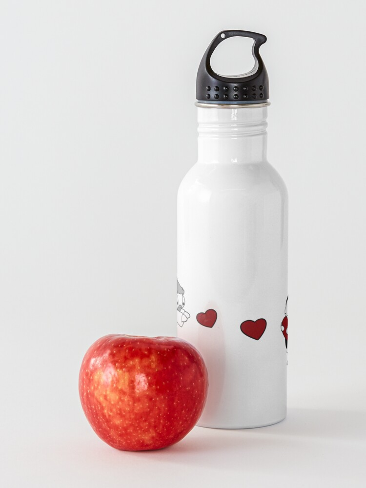 Alternate view of Hearts Throw Water Bottle
