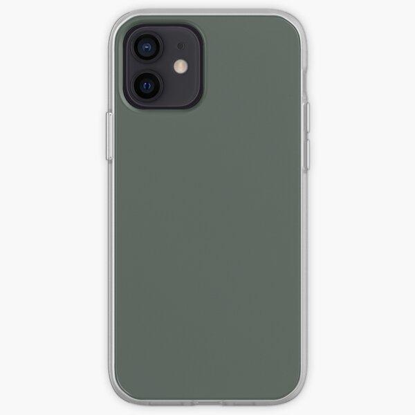 Verde medianoche Funda blanda para iPhone