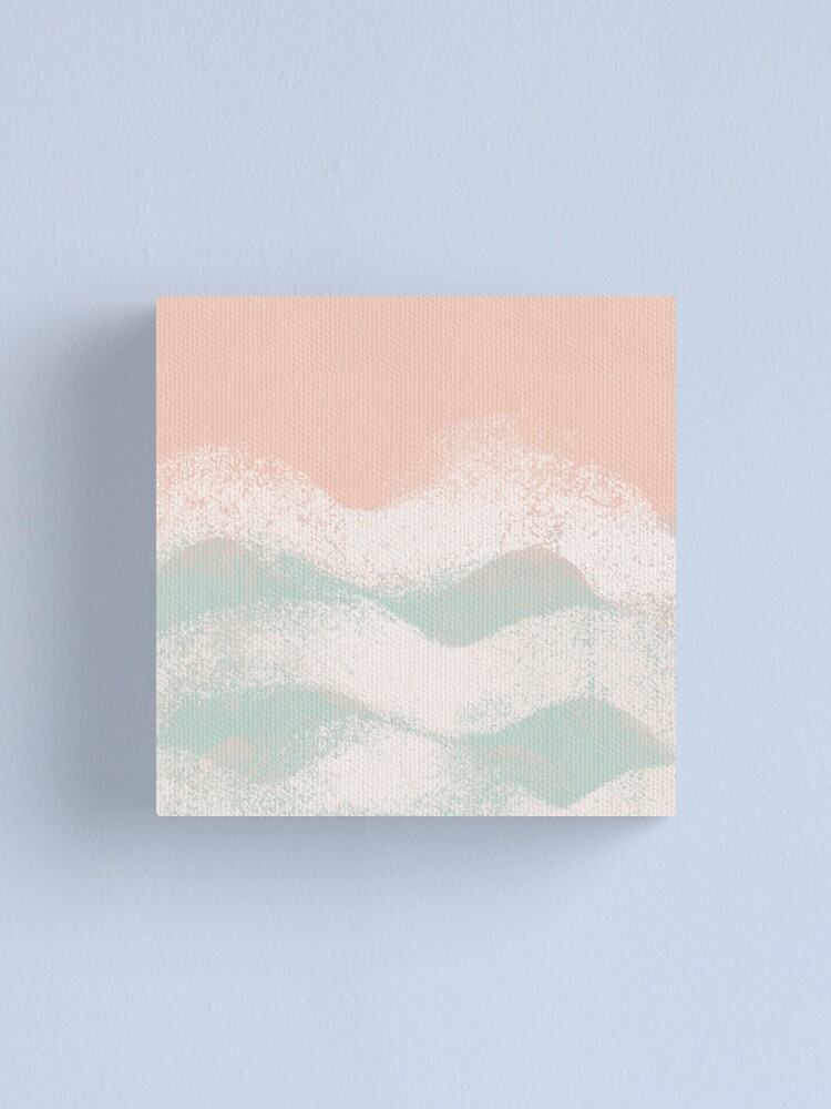 Alternate view of Turquoise Ocean Waves Canvas Print