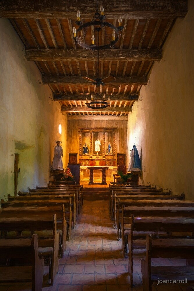 Mission San Juan Capistrano Chapel Vertical Painterly by joancarroll