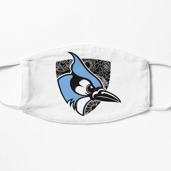 JHU bluejay blooms Flat Mask