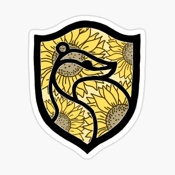 Sunflower badger house Sticker