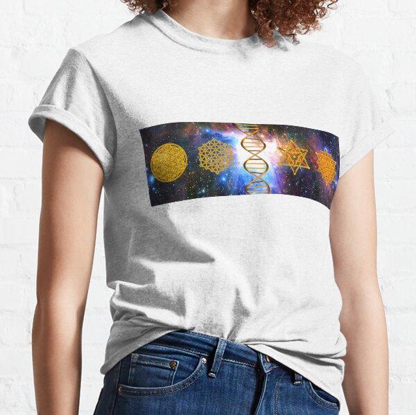 Flower of life DNA Merkaba Classic T-Shirt
