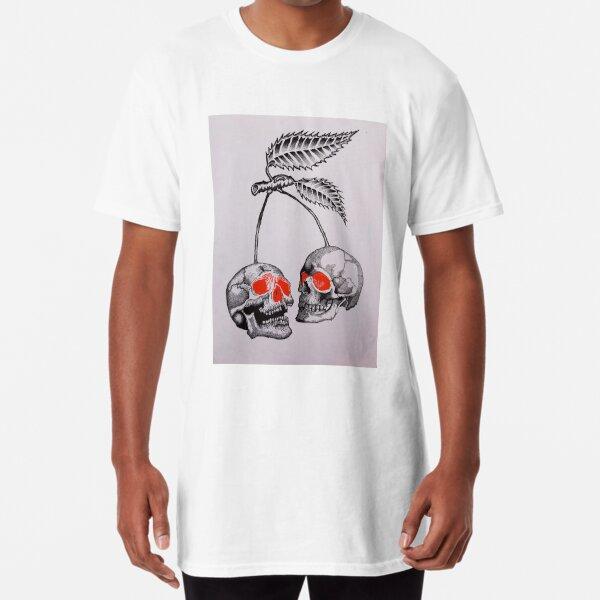 Cherry Skulls  Long T-Shirt