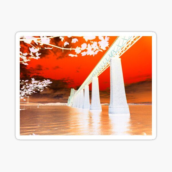 Abstract Forth Rail Bridge ~ South Queensferry Sticker