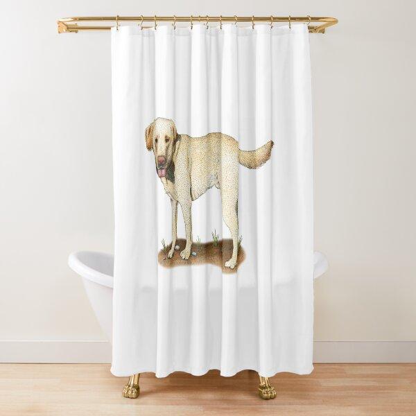 Yellow Labrador Retriever Dog Shower Curtain