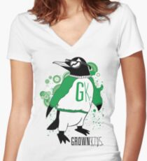 One Cool Penguin Women's Fitted V-Neck T-Shirt