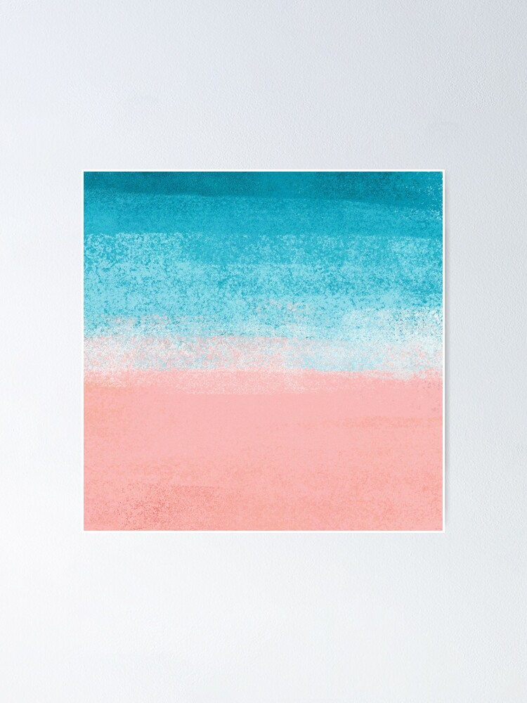 Alternate view of Turquoise Blue Ocean Waves Poster