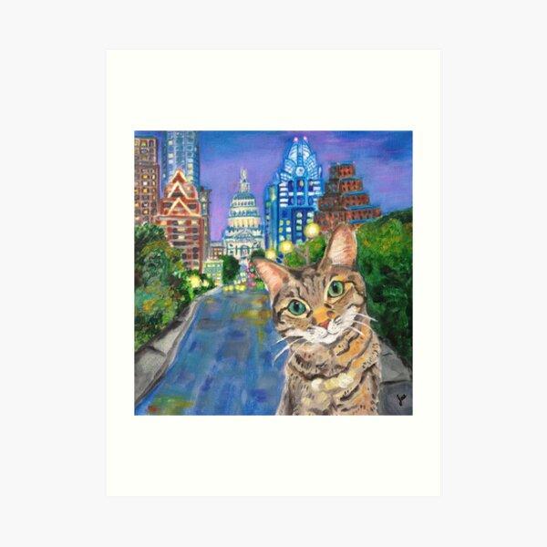 City Kitty-AUSTIN Art Print