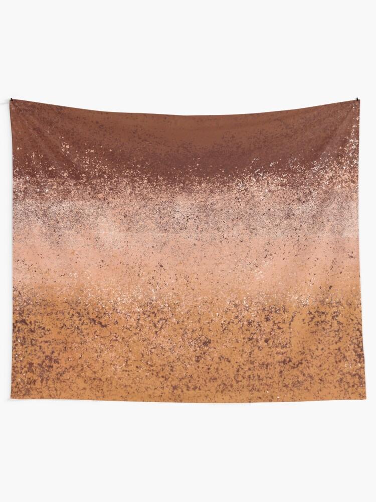 Alternate view of Warm Neutral Boho Terracotta Tapestry