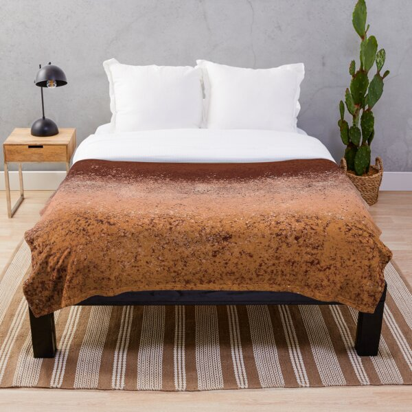 Warm Neutral Boho Terracotta Throw Blanket