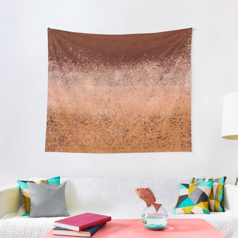 Warm Neutral Boho Terracotta Tapestry
