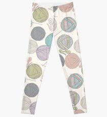 Balls of yarn pattern Leggings