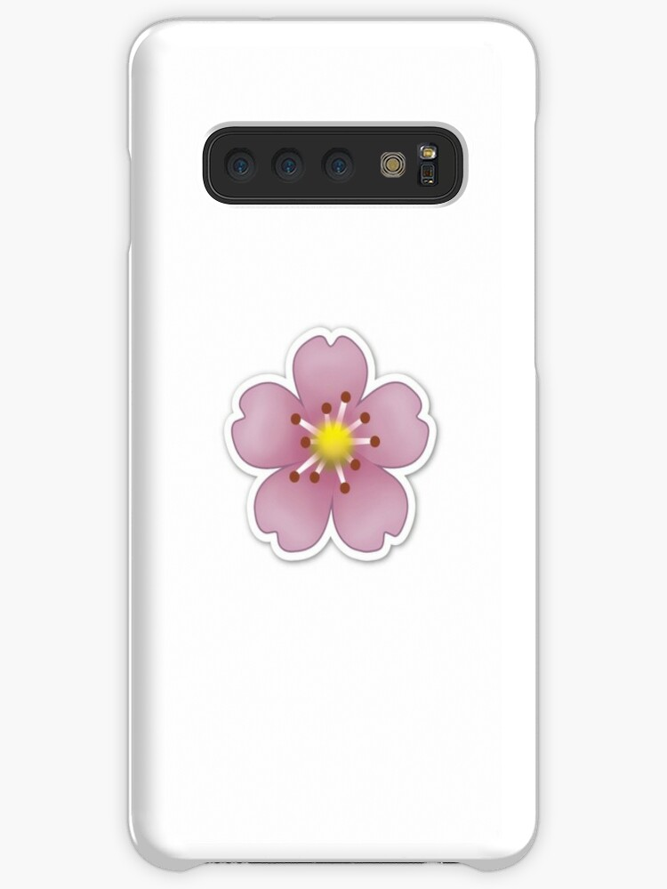 Pink Flower Emoji Cases Skins For Samsung Galaxy By Brogy2323