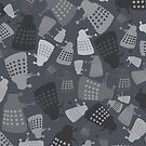 50 Shades of Grey Mini Daleks by kinxx