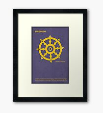 The Wheel of Dharma - Buddhism Framed Print