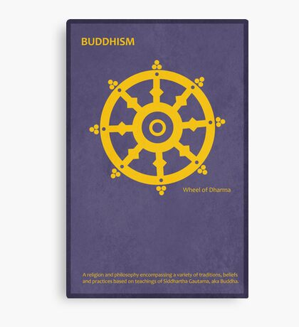 The Wheel of Dharma - Buddhism Canvas Print