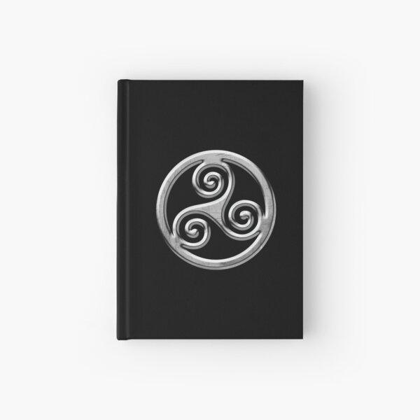 Triskele Metal (Triskell) Brittany symbol Hardcover Journal