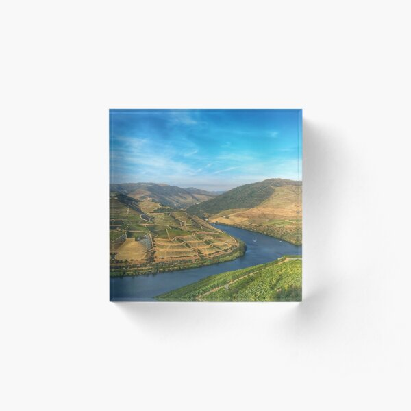 Beautiful landscape of the Douro Valley, Portugal Acrylic Block