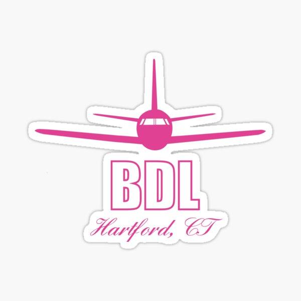BDL Hartford Connecticut CT Airport Code  Sticker