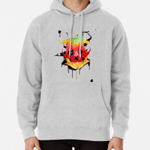 Autumn: Skull Leaves 3 out of 3 Pullover Hoodie