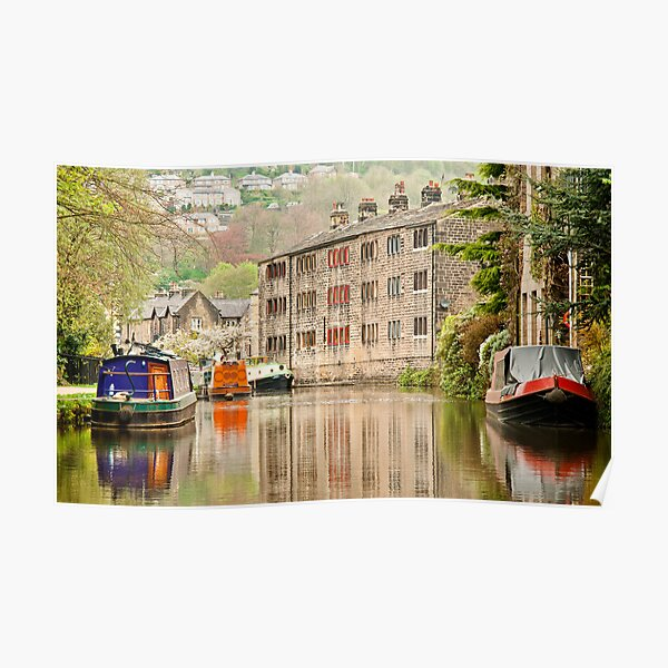Reflections on the Rochdale Canal Poster