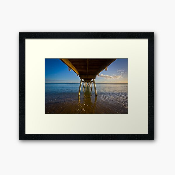 Under The Jetty Framed Art Print