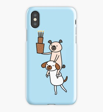 Two Dogs with Cake iPhone Case