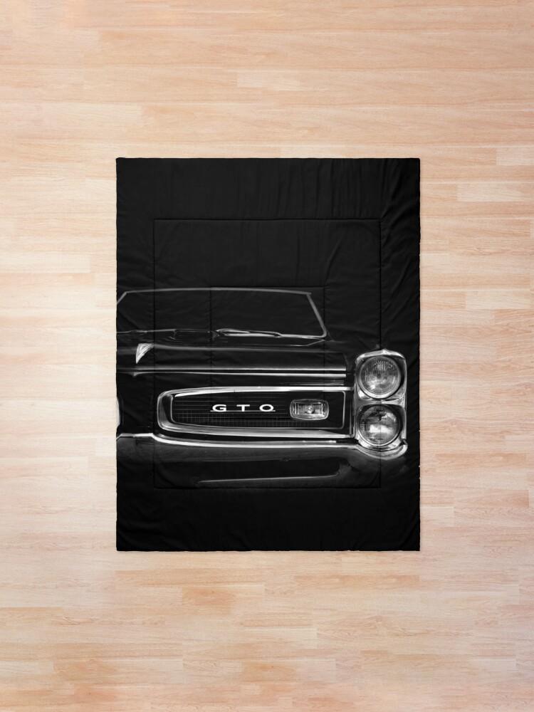 Alternate view of 1966 Pontiac GTO - black Comforter