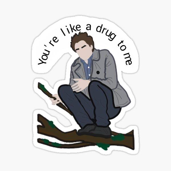 Edward in a tree Sticker