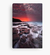 The Flinders Blowhole Metal Print