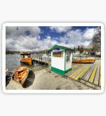 Rowing Boats at Ambleside  Sticker