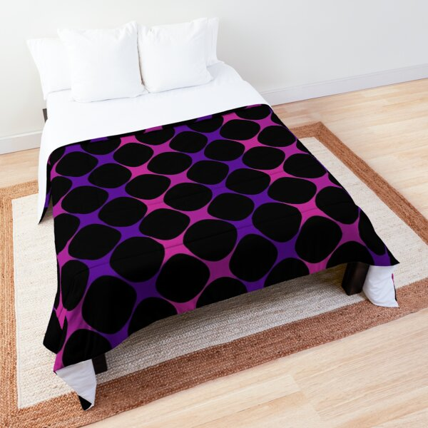 Pink and purple mesh pattern, cool pattern composition Comforter