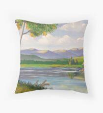 Riverside Birch Throw Pillow