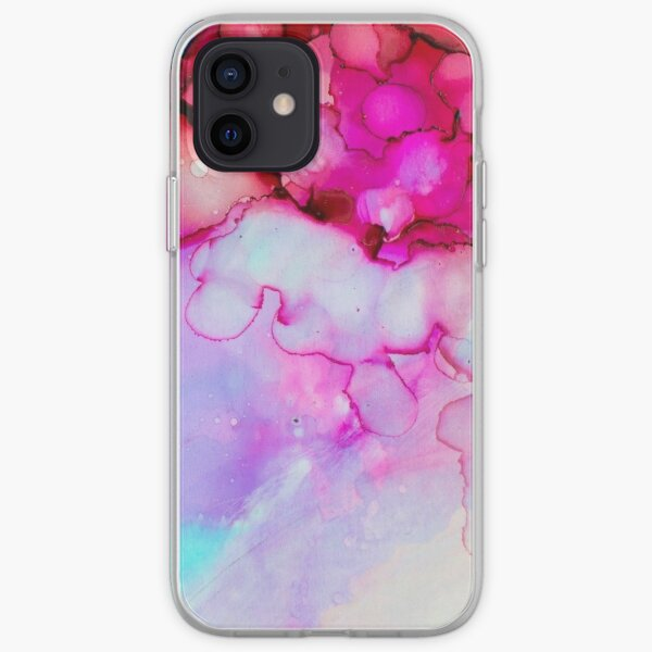 Pink Watercolor Paint Splatter iPhone Soft Case