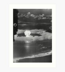 Mushroom Cloud Operation Crossroads Nuclear Weapons Test (July 1946) Art Print