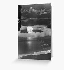 Mushroom Cloud Operation Crossroads Nuclear Weapons Test (July 1946) Greeting Card