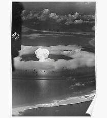 Mushroom Cloud Operation Crossroads Nuclear Weapons Test (July 1946) Poster