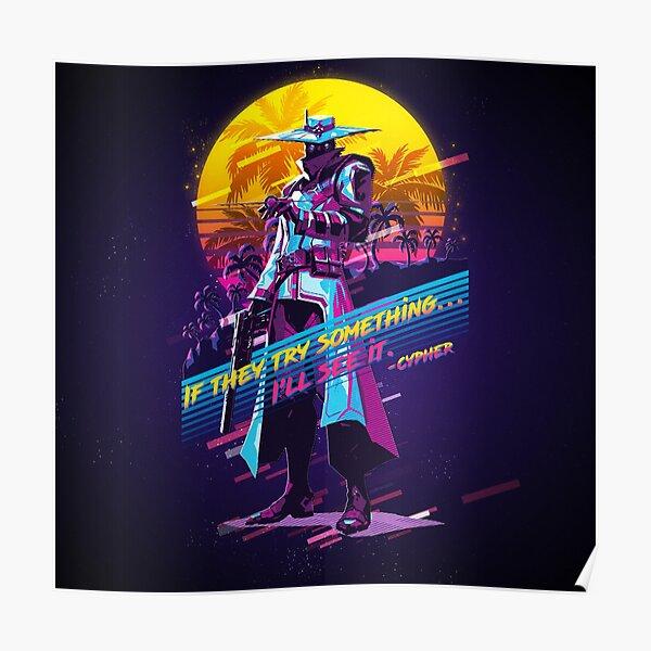 Valorant - Cypher - rétro des années 80 Poster