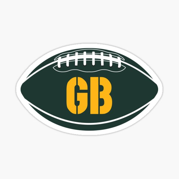 Green Bay Packers Football Design Sticker